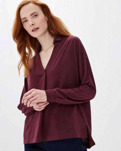 Блузка с длинным рукавом красная бордовый Sela