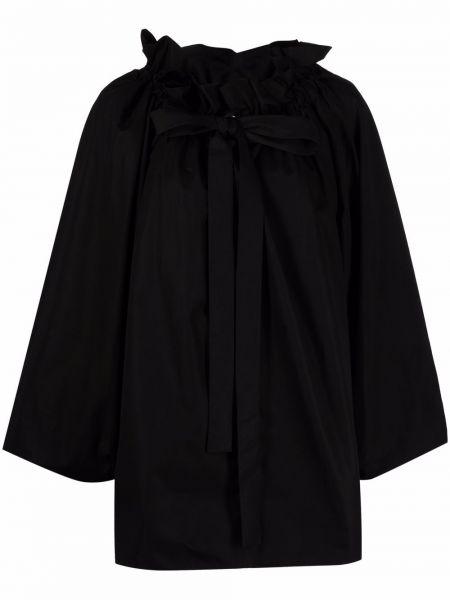 Хлопковая блузка - черная Rochas