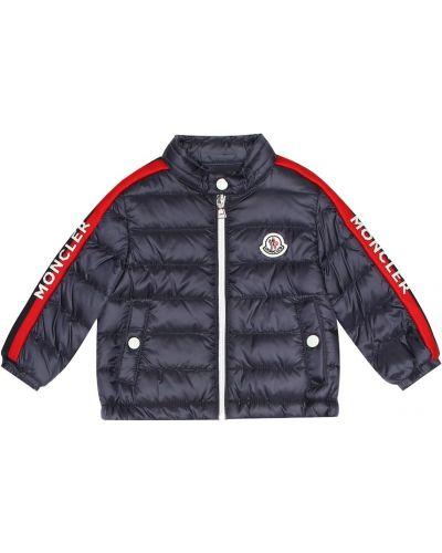 Стеганая куртка с перьями синий Moncler Enfant