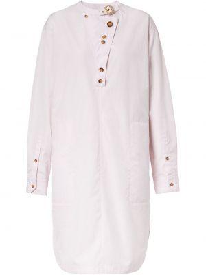 Платье макси длинное - розовое Burberry