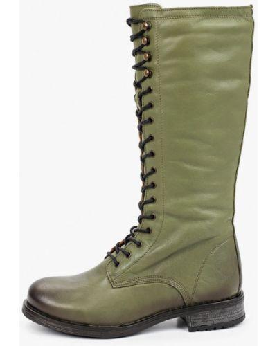 Зеленые кожаные сапоги El Tempo