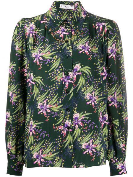 Koszula w kwiaty - zielona Givenchy