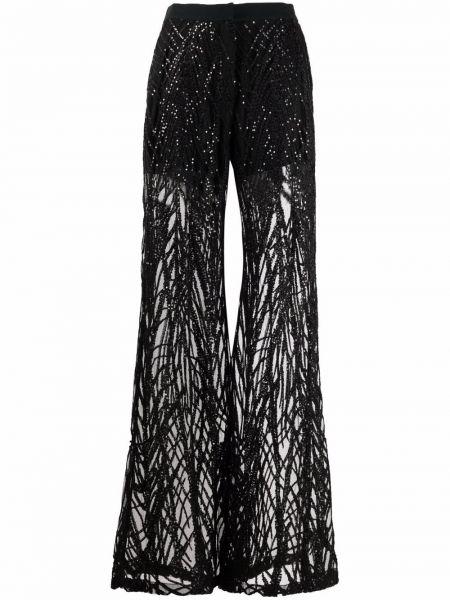 Черные шелковые брюки Elie Saab