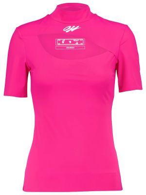 Golf różowy koszula rozciągać Off-white