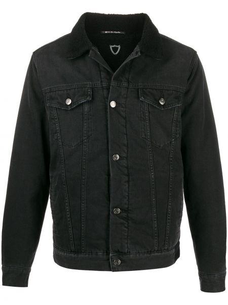 Czarne jeansy bawełniane z długimi rękawami Htc Los Angeles