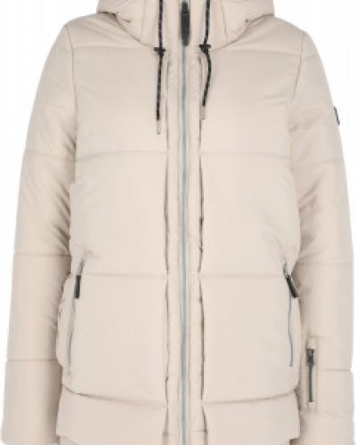 Бежевая утепленная куртка горнолыжная сноубордическая O`neill