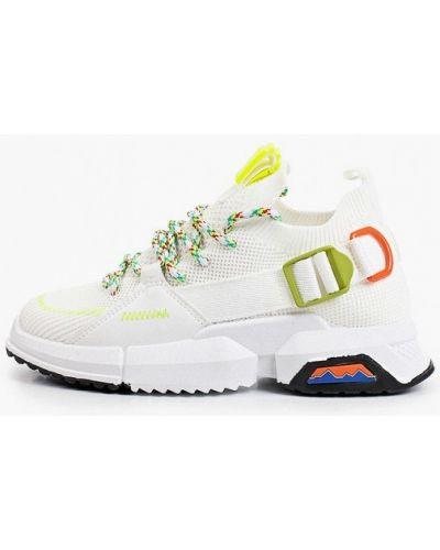 Кожаные белые кроссовки Sergio Todzi