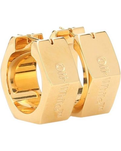 Золотые серьги серьги-кольца серьги-гвоздики Off-white
