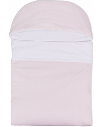 Ватная розовая косметичка с капюшоном Fendi Kids