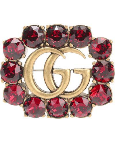 Broszka złoto ze skałami Gucci