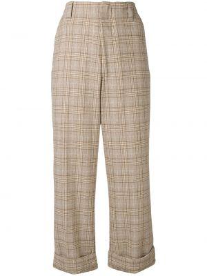 Spodni brązowy spodnie z paskiem bezpłatne cięcie Acne Studios