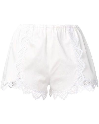 Ажурные белые шорты Giamba