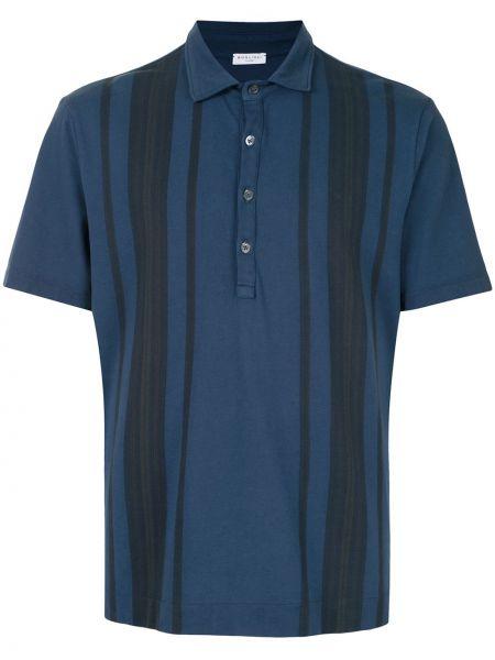Рубашка с коротким рукавом - синяя Boglioli