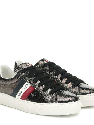 Кожаные кроссовки темный Moncler