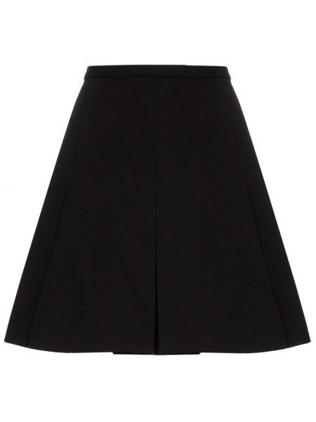 Czarna spódnica mini z wysokim stanem szkolna Plan C