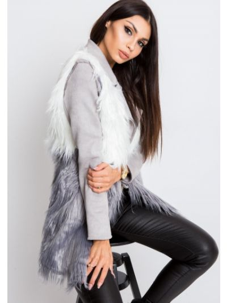 Szara kamizelka materiałowa Fashionhunters