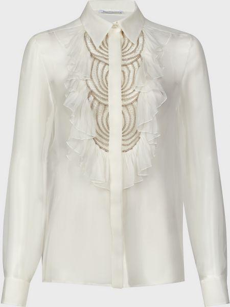 Шелковая блузка - белая Alberta Ferretti