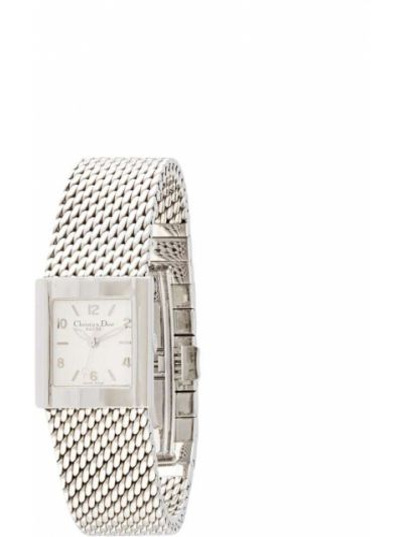 Puchaty srebro zegarek kwarcowy plac z kwarcem Christian Dior
