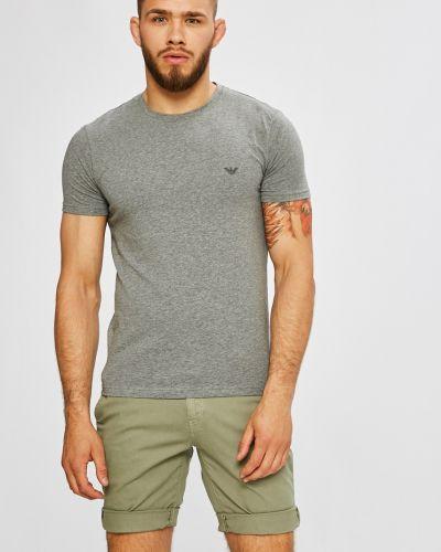 Серая футболка однотонная Emporio Armani