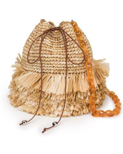 Плетеная сумка с бахромой Carolina Santo Domingo