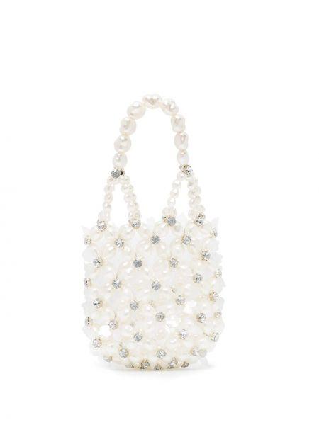 Biała torebka mini perły Simone Rocha