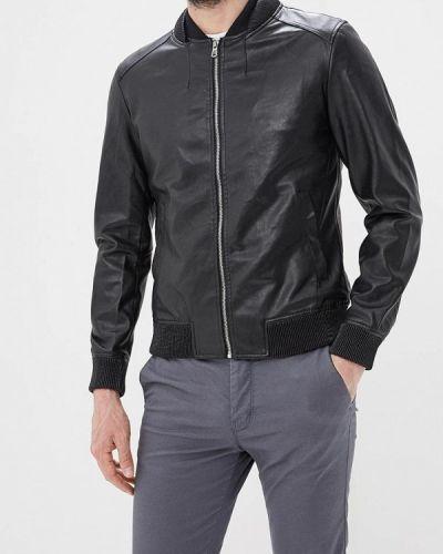 Кожаная куртка черная Y.two