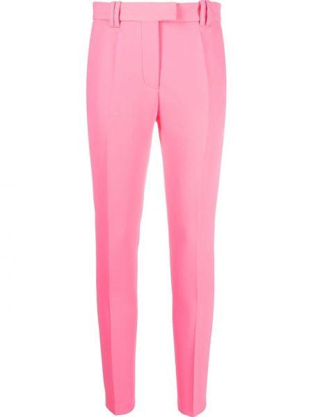 Różowe spodnie z paskiem Barbara Bui