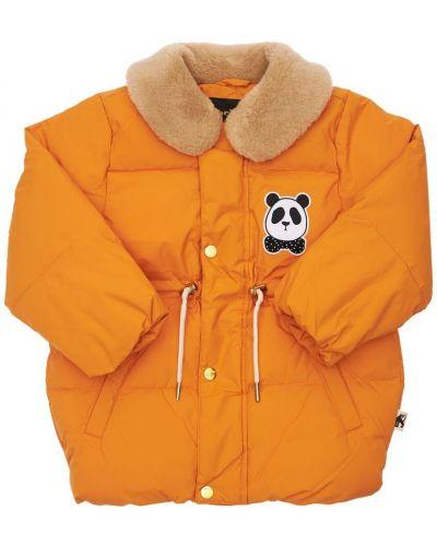Дутая куртка - оранжевая Mini Rodini