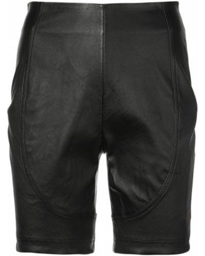Однобортные черные шорты Area