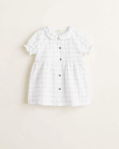 Платье с рукавами короткое хлопковое Mango Kids