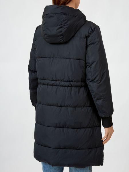 Черное пальто Armani Exchange