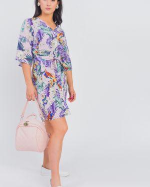Платье с поясом на пуговицах через плечо Lacywear