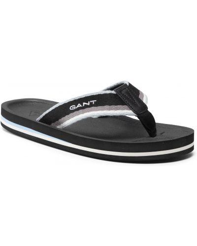 Czarne sandały na lato Gant