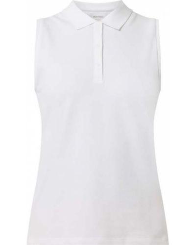 Biały t-shirt bawełniany bez rękawów Montego