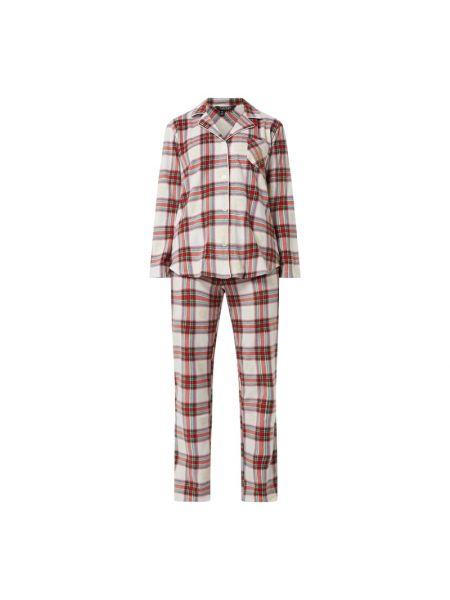 Światło piżama różowy spodni piżama z długimi rękawami Lauren Ralph Lauren