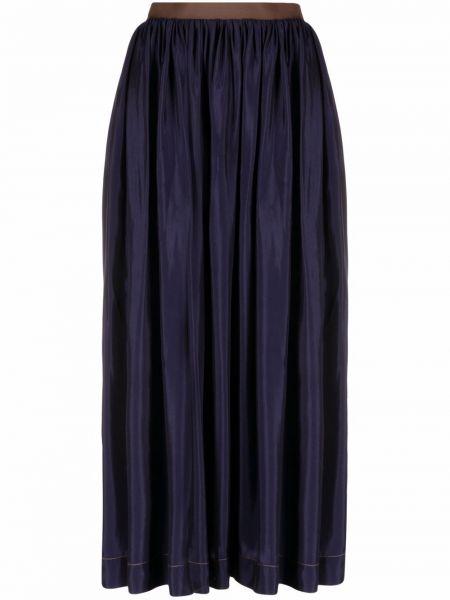 Синяя юбка расклешенная Uma Wang