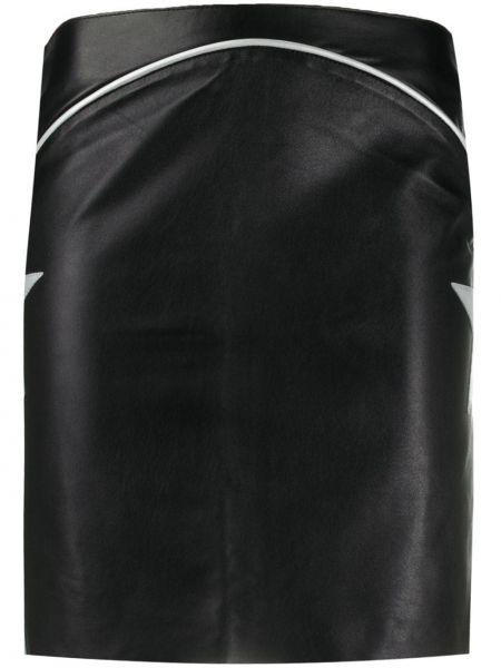 Плиссированная черная юбка мини на молнии с нашивками Jessie Western