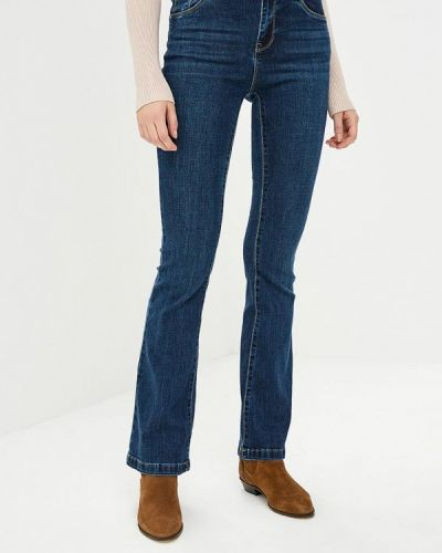 Широкие джинсы расклешенные синие Kiss Pink