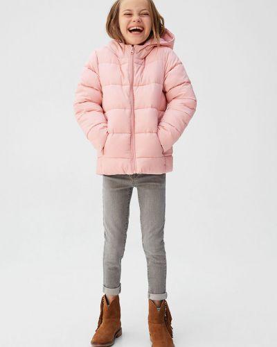 Куртка розовый стеганая Mango Kids
