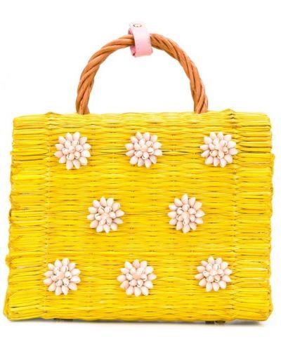 Желтая сумка с ручками Heimat Atlantica