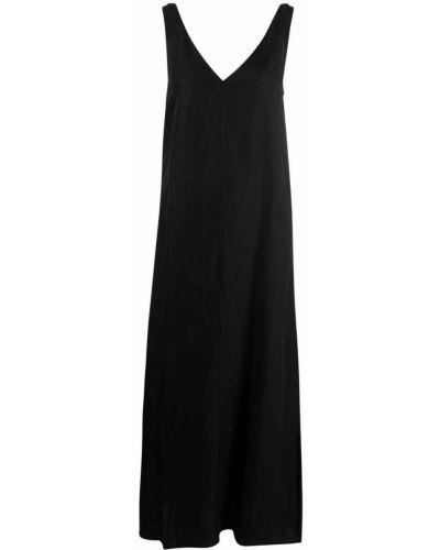 Черное расклешенное платье Ba&sh