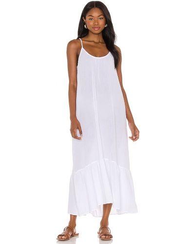 Хлопковое платье миди - белое Seafolly