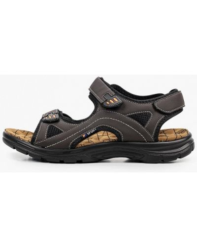 Коричневые кожаные сандалии Patrol