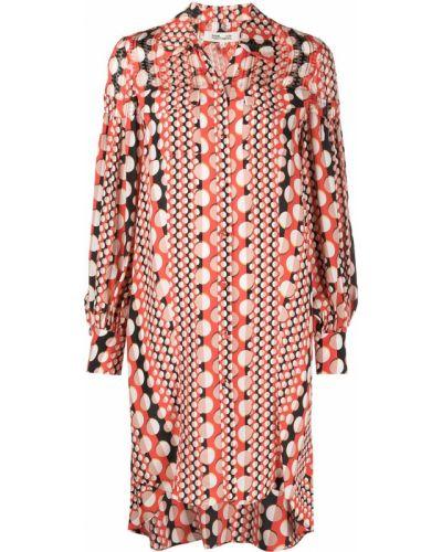 Красное платье миди на пуговицах Dvf Diane Von Furstenberg