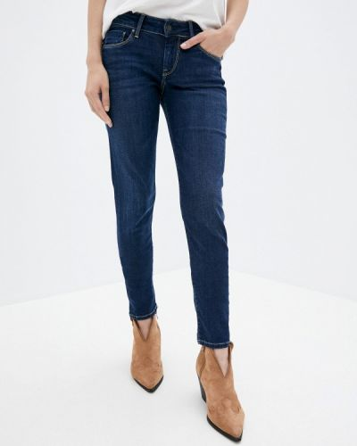 Синие джинсы-скинни узкого кроя Pepe Jeans