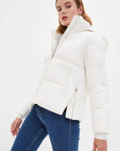 Белая утепленная куртка Calvin Klein