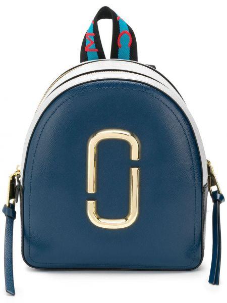 Skórzany plecak niebieski złoto Marc Jacobs
