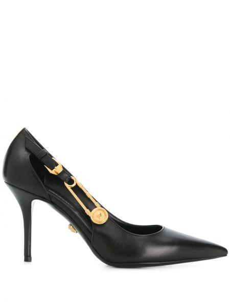 Лодочки на каблуке - черные Versace