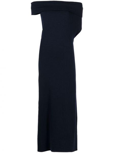 Czarna z kaszmiru sukienka Altuzarra