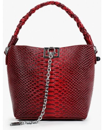 Кожаная красная сумка с ручками Elsi
